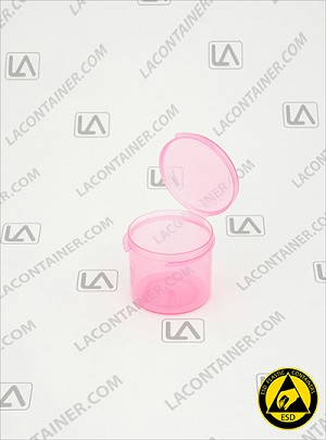 Lacons® 151350-ASP Pink Anti-Static Plastic Container