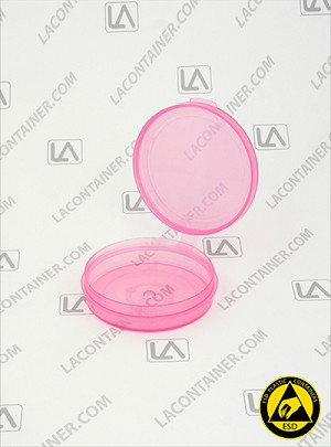 Lacons® 250675 Round Hinged-Lid Plastic ASP Container
