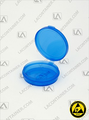 Lacons® 250675 Round Hinged-Lid Plastic BAS Container