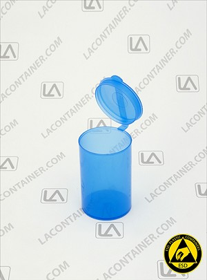Polyvials EP193-BAS Blue Anti-Static Polypropylene Container