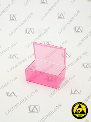 Flex-A-Top FT14-ASP Pink Anti-Static Square Containers