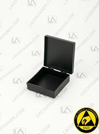 Laboxx 202005-CAS Black Conductive Antistatic ESD Plastic Boxes 108/Box