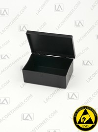 Laboxx 291910-CAS Black Conductive Antistatic ESD Plastic Boxes 117/Box