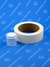 "Blank Labels for 1.5"" Lacons® Plastic Containers L-125 (1000 pc Roll)"