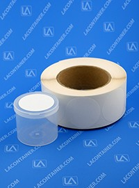 "Blank Labels for 2.5"" Lacons® Plastic Containers L-200 (1000 pc Roll)"