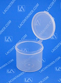 Lacons® 252150 Round Hinged-Lid Plastic Container 325/Box
